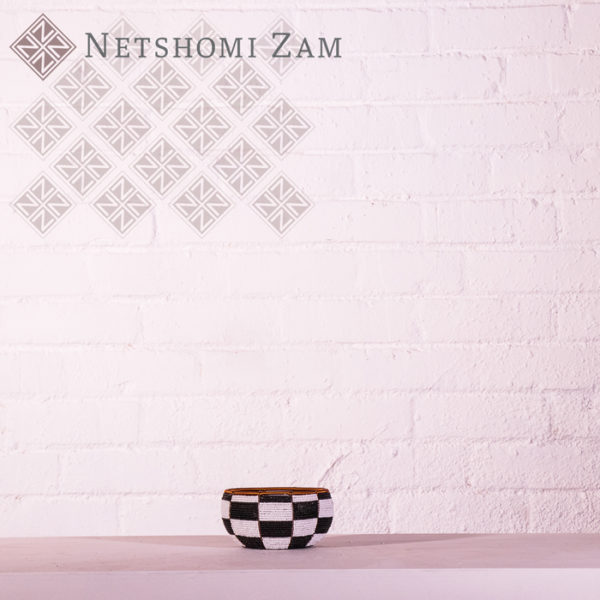 Netshomi Zam African Beadwork - Streetwires Beaded African Art Bowl