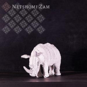 Netshomi Zam African Beadwork - Streetwires Beaded African Art Animal Rhino