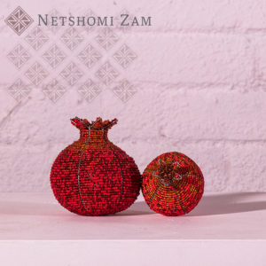 Netshomi Zam African Beadwork - Streetwires Beaded African Art Fruit Pomegranate
